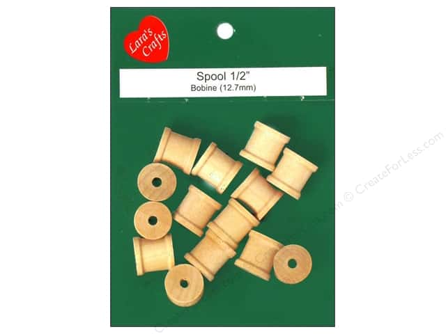 "Lara's Wood Spool 1/2""x 1/2"" 14 pc"