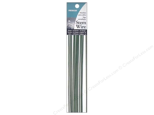 "Panacea Wire Stem 18"" 16Ga Green 12pc"