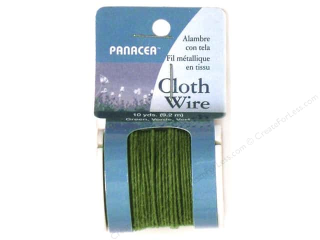 Panacea Cloth Stem Wire Spool 32 Ga Green 10yd