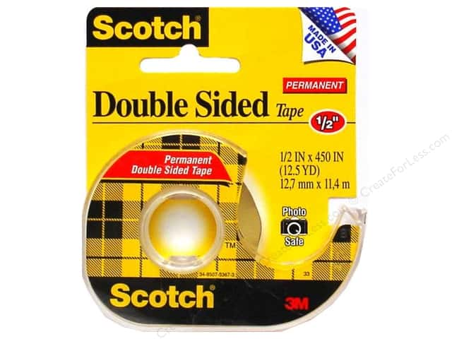 "Scotch Tape Double Stick Permanent Tape 1/2""x 450"""