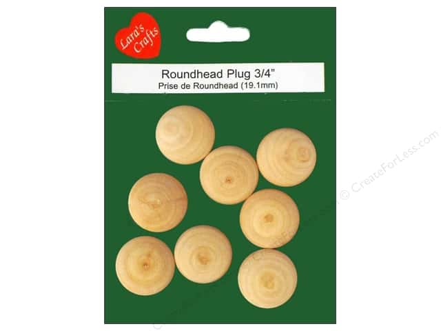"Lara's Wood Round Head Plug 3/4"" 8 pc"