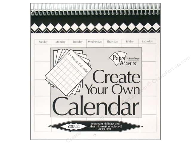 Paper Accents 14 Month Calendar 8 x 8 in. White