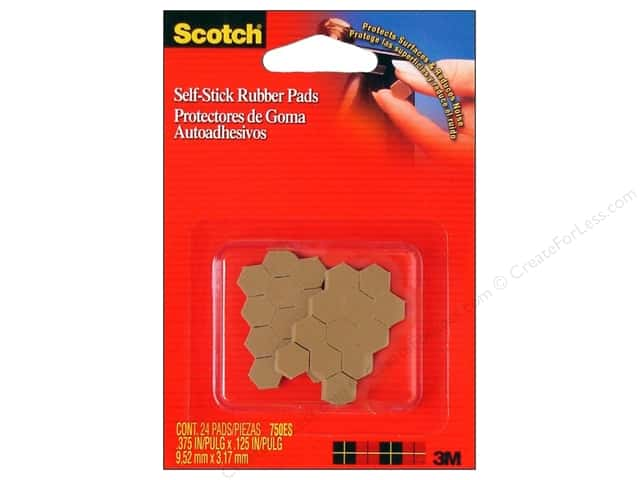 Scotch Self-Stick Rubber Pads Cabinet & Drawer Tan 24pc
