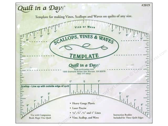 Quilt In A Day Rulers Scallops Vines Waves Template
