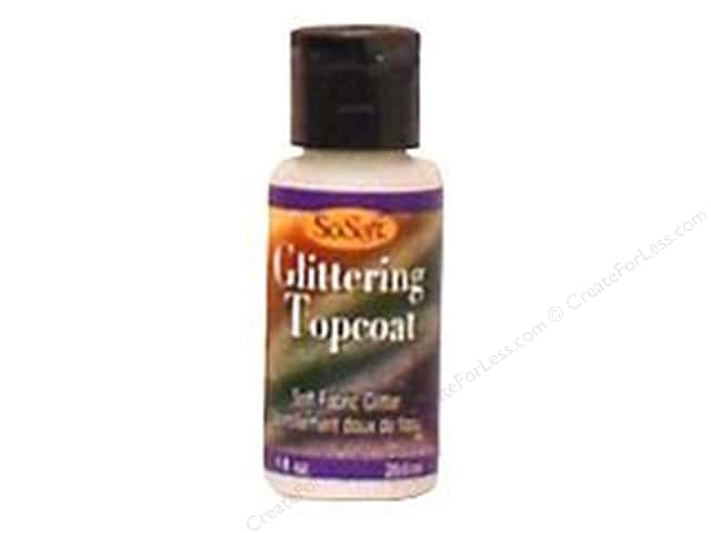 DecoArt Prep/Finish SoSoft Glittering Top Coat 1oz Bulk