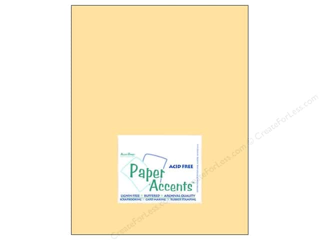 Cardstock 8 1/2 x 11 in. #8013 Muslin Butter Cream by Paper Accents (25 sheets)