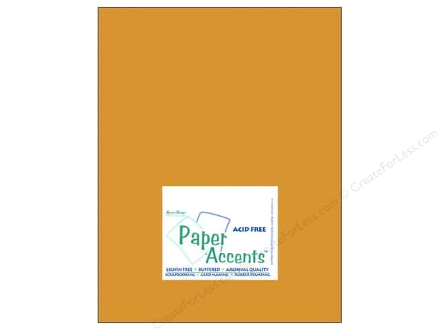 "Paper Accents Cardstock 8.5""x 11"" Muslin Curry Spice- 74lb 100% Recycled paper. (25 sheets)"