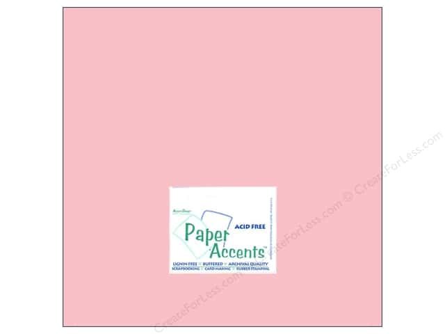 Cardstock 12 x 12 in. #8005 Muslin Berry Blush by Paper Accents (25 sheets)