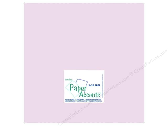 Cardstock 12 x 12 in. #8045 Muslin Lilac Mist by Paper Accents (25 sheets)