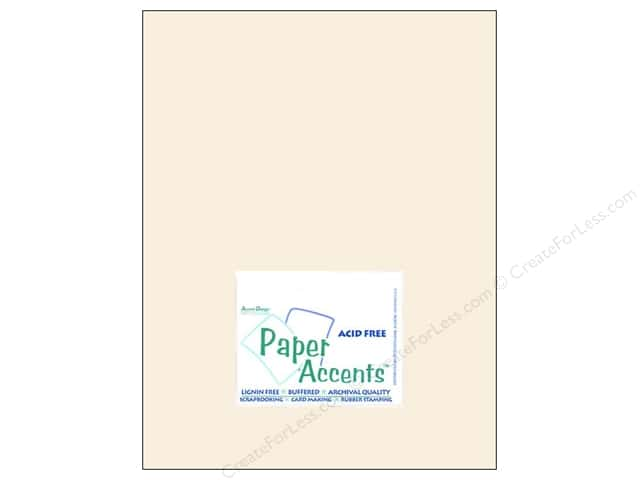 Cardstock 8 1/2 x 11 in. #8069 Muslin French Vanilla by Paper Accents (25 sheets)