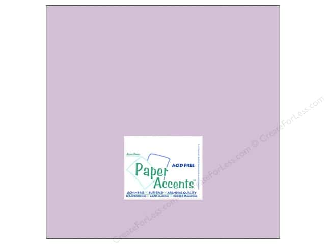 Cardstock 12 x 12 in. #8049 Muslin Lavender Twilight by Paper Accents (25 sheets)