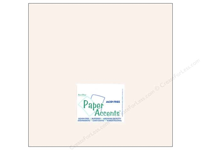 Cardstock 12 x 12 in. #8077 Muslin Avalanche by Paper Accents (25 sheets)