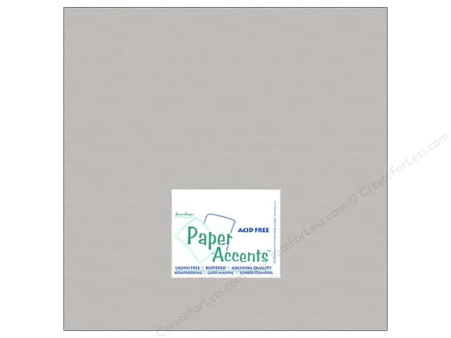 Cardstock 12 x 12 in. #824 Brushed Silver by Paper Accents (25 sheets)