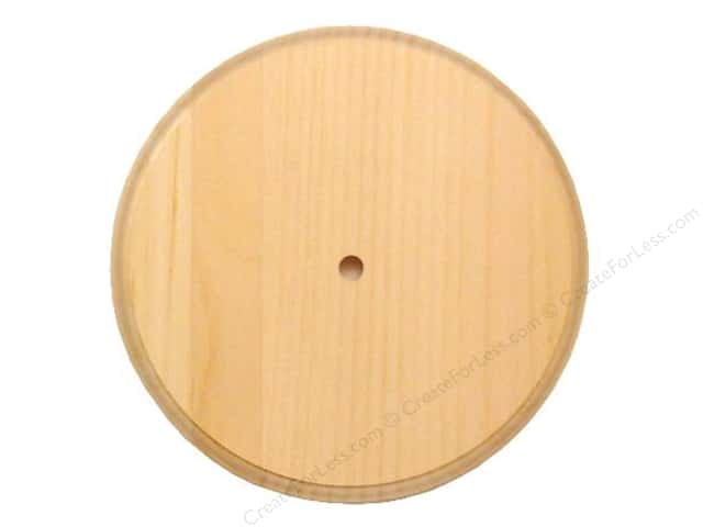 Walnut Hollow Pine Round Clock Surface Small 6 3/4 in.