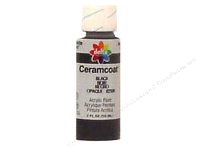 Ceramcoat Acrylic Paint by Delta 2 oz. Black