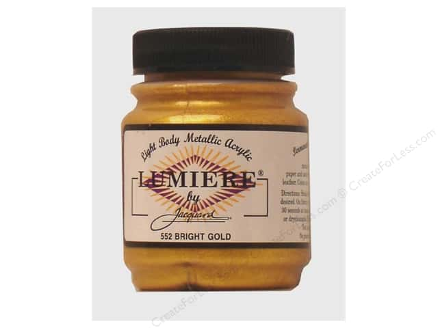 Jacquard Lumiere Paint 2.25 oz Bright Gold