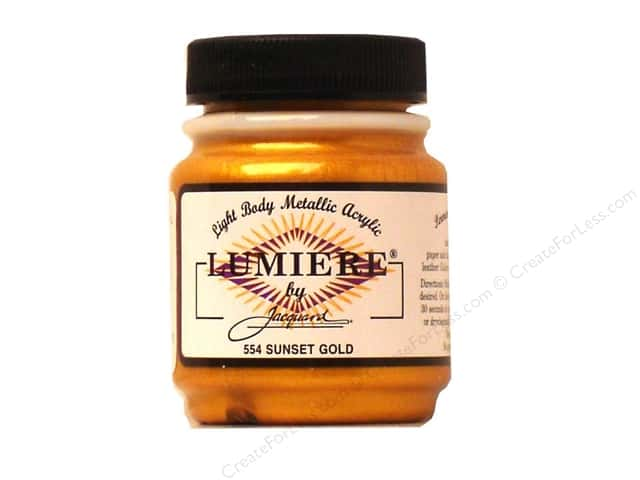 Jacquard Lumiere Paint 2.25 oz Sunset Gold