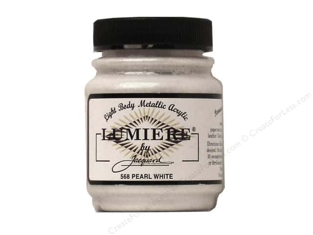 Jacquard Lumiere Paint 2.25 oz. #568 Pearl White