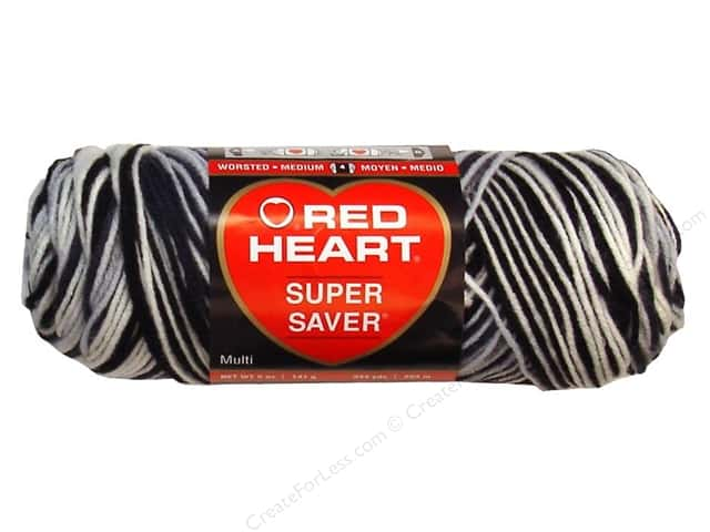 Red Heart Super Saver Yarn #0932 Zebra 244 yd.