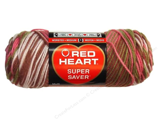 Red Heart Super Saver Yarn #0972 Pink Camo 5 oz.
