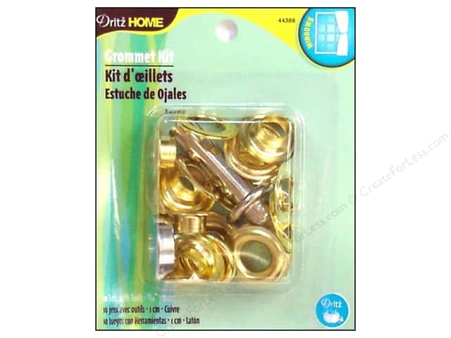 Dritz Home Curtain Grommets Kit 7/16 in. Brass 10 pc