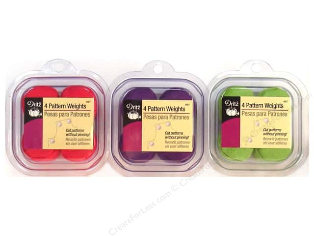 Dritz Pattern Weights Assorted Green/Hot Pink/Purple 4 pc