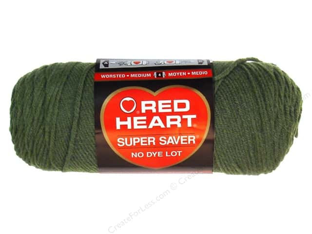 Red Heart Super Saver Yarn #0406 Medium Thyme 7 oz.