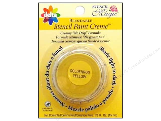 Delta Stencil Magic Paint Creme .5 oz Goldenrod Yellow