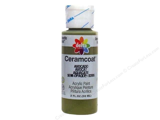 Ceramcoat Acrylic Paint by Delta 2 oz. Avocado