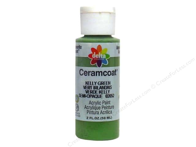 Ceramcoat Acrylic Paint by Delta 2 oz. Kelly Green