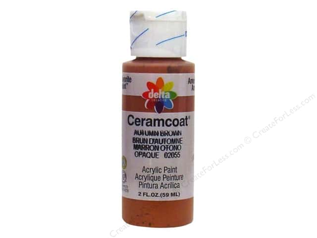 Ceramcoat Acrylic Paint by Delta 2 oz. Autumn Brown