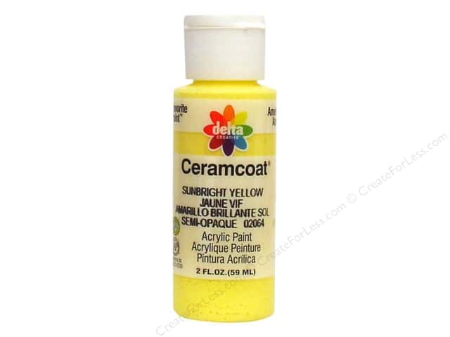 Ceramcoat Acrylic Paint by Delta 2 oz. #2064 Sunbright Yellow