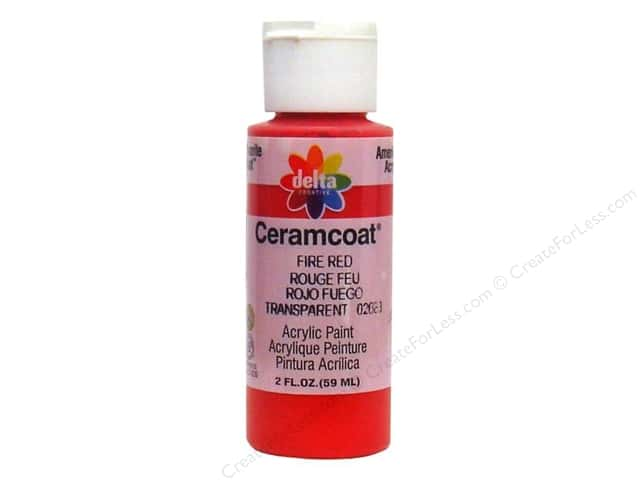 Ceramcoat Acrylic Paint by Delta 2 oz. Fire Red
