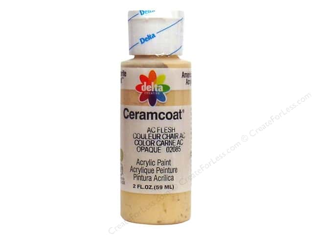 Ceramcoat Acrylic Paint by Delta 2 oz. AC Flesh