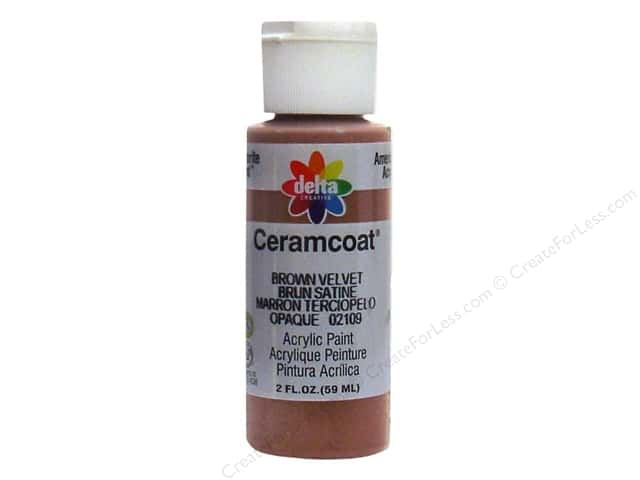 Ceramcoat Acrylic Paint by Delta 2 oz. Brown Velvet