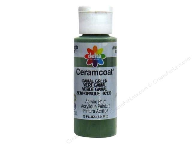Ceramcoat Acrylic Paint by Delta 2 oz. Gamal Green