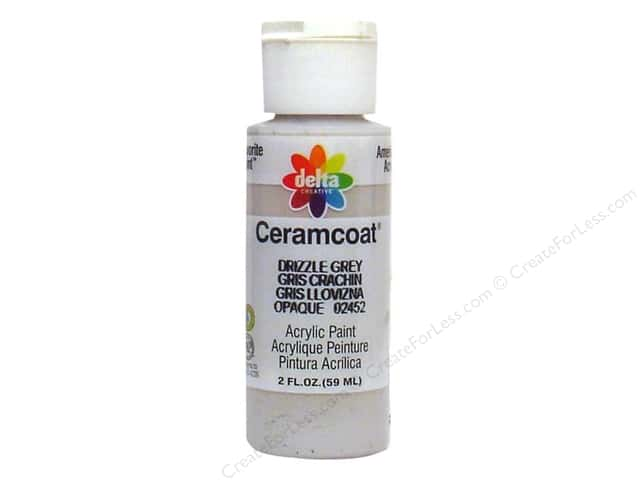 Ceramcoat Acrylic Paint by Delta 2 oz. #2452 Drizzle Grey