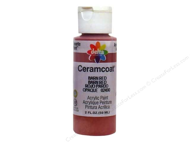 Ceramcoat Acrylic Paint by Delta 2 oz. Barn Red