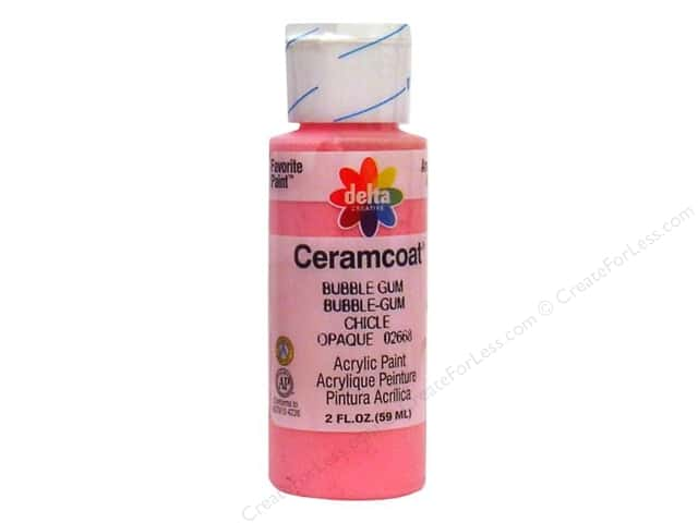 Ceramcoat Acrylic Paint by Delta 2 oz. Bubble Gum