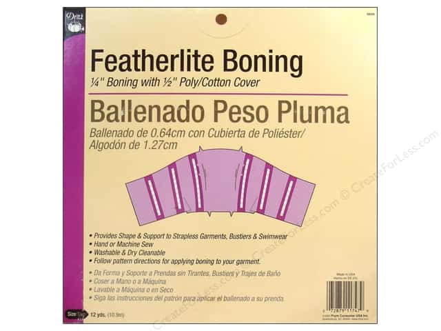 Featherlite Boning by Dritz White 1/4 in x 12 yd (12 yards)
