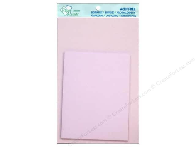 "Paper Accents Card & Envelope 4.25""x 5.5"" Lavender 10pc"