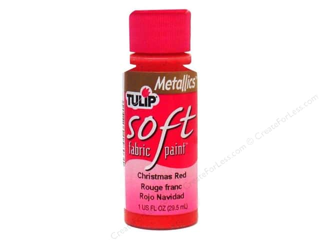 Tulip Soft Fabric Paint 1oz Metallic Christmas Red