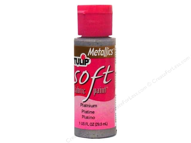 Tulip Soft Fabric Paint 1oz Metallic Platinum