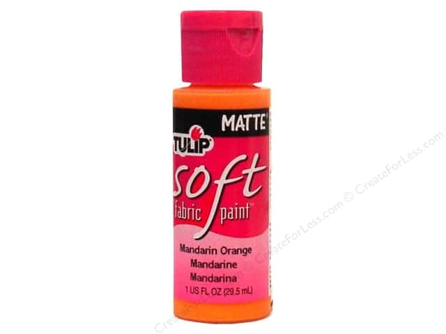 Tulip Soft Fabric Paint 1oz Matte Mandarin Orange