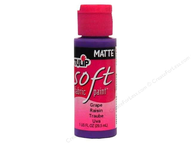 Tulip Soft Fabric Paint 1oz Matte Grape