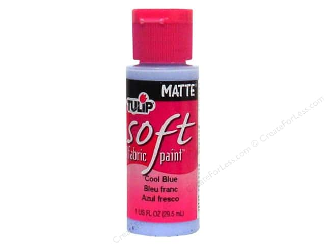 Tulip Soft Fabric Paint 1oz Matte Cool Blue