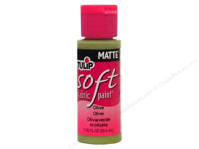 Tulip Soft Fabric Paint 1oz Matte Olive