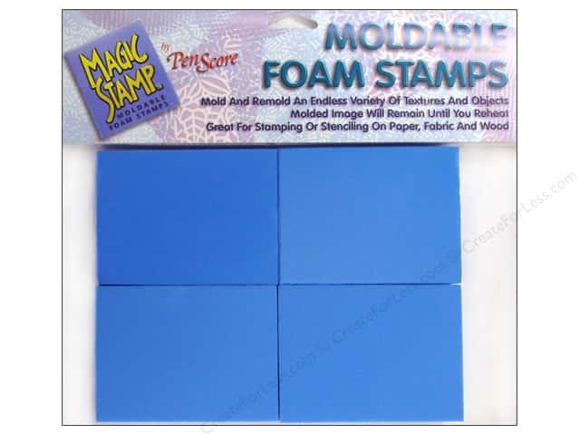 "Magic Stamp Moldable Foam Block 3""x 4""x 1"" 8 pc"