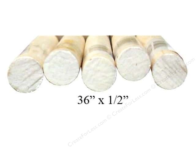 Wood Dowels 36 x 1/2 in. (20 pieces)