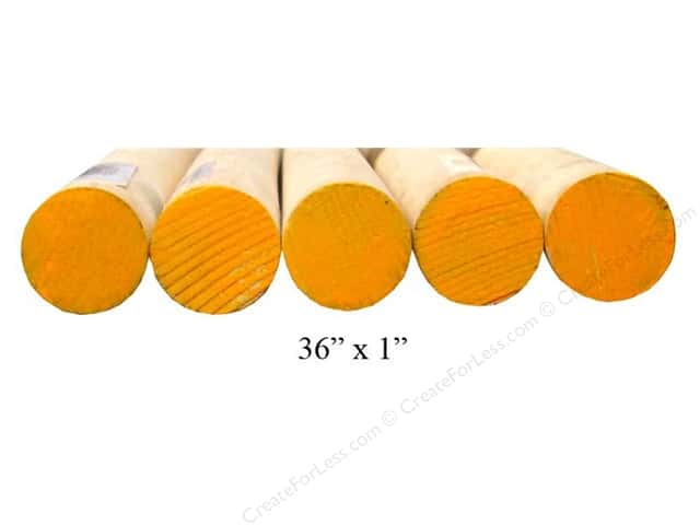 Wood Dowels 36 x 1 in. (8 pieces)